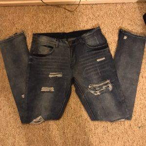 NWOT SEXY Y&R Jeans, Men's Frayed Jeans, Size 32